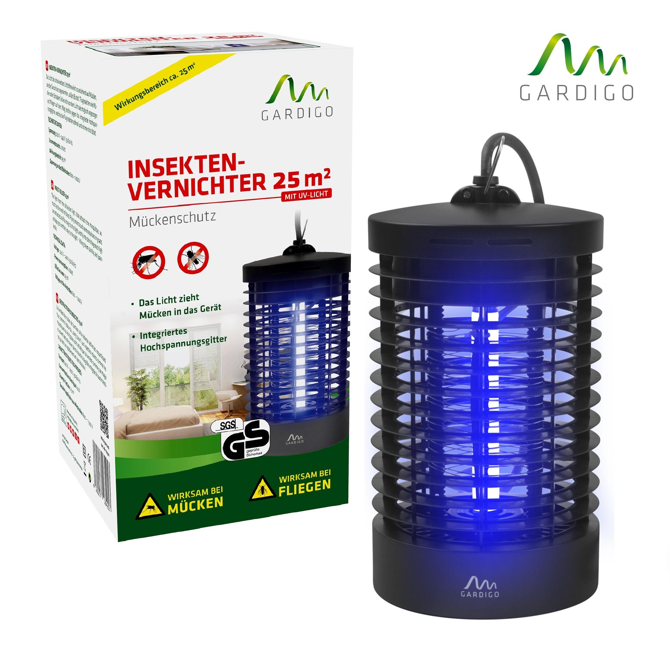 insektenvernichter 25 qm m cken lampe licht m ckenschreck. Black Bedroom Furniture Sets. Home Design Ideas