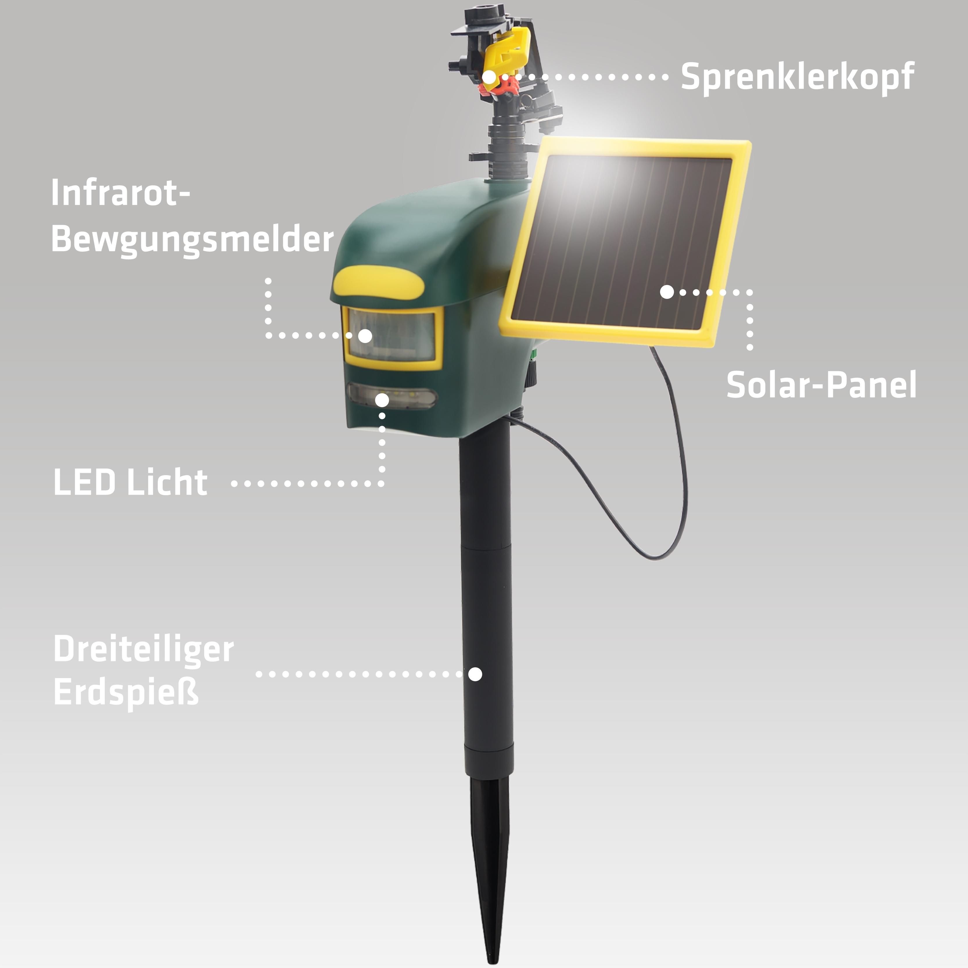 gardigo solar wasser tiervertreiber reiherschreck. Black Bedroom Furniture Sets. Home Design Ideas