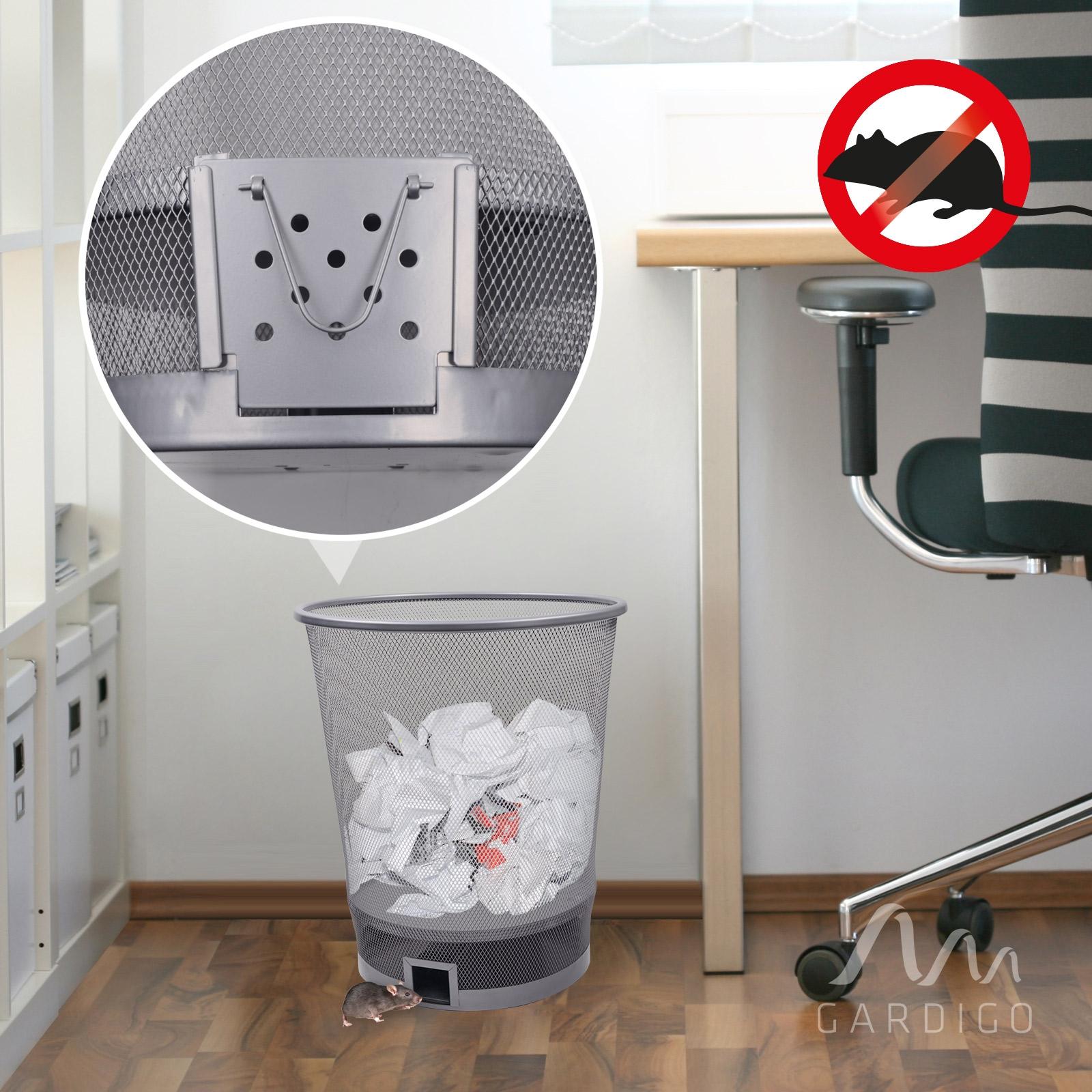 metall papierkorb inkl mausefalle lebendfalle ganz ohne m usegift m use fangen ebay. Black Bedroom Furniture Sets. Home Design Ideas